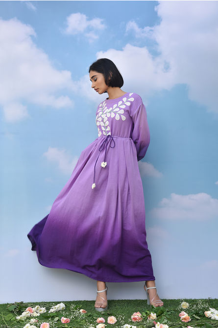 PURPLE LUPIN MAXI DRESS