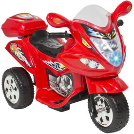Kids Ride On Motorcycle 6V Toy Battery Powered Electric 3 Wheel Power Bicyle,  blue