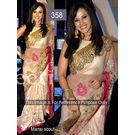 Kmozi Bollywood Mhi Replica Designer Saree, light pink