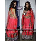 Kmozi Isha Gupta Strawberry Lehenga Choli, strawberry