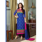 Kmozi Latest Cotton Salwar Kameez, blue and pink