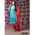 Kmozi Designer Embroidery Work Dress Material, blue