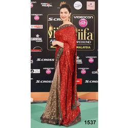 Kmozi Fancy Stylist Dipika Padukon Saree Buy Online Shopping, red