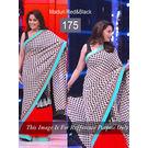 Kmozi Bollywood Replica Madhuri Saree, black and red