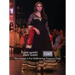 Kmozi Huma Qureshi Anarkali Suits At Iijw 2013, black