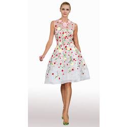 Kmozi New Spring Summer 2016 Women' S Embrioda Dress, white