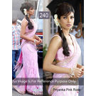 Kmozi Bollywood Priyanka Rose Saree, pink
