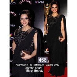 Kmozi Latest Designer Saree, black