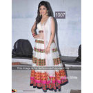 Kmozi Shilpa Latest Designer Anarkali, white