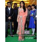 Kmozi Aish Jhalak Peach Fancy Style Saree, peach