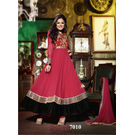 Kmozi Drashti Dhami Georgette Anarkali Suit, red