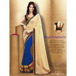 Kmozi New Designer Saree Buy Online, blue