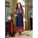 Kmozi new Cotton Salwar Kameez, red and blue
