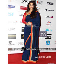 Kmozi Aish Craft Designer Saree, blue