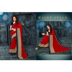 Kmozi Designer Saree Buy Online Shopping, red