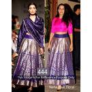 Kmozi Neha Floral Designer Lehenga Choli, blue