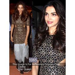 Kmozi Deepika Anarkali Suits, black