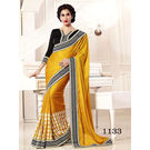 Kmozi Fancy Saree Buy Online Shopping, yellow