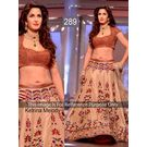 Kmozi Replica Ketrina Melody Lehenga, light brown