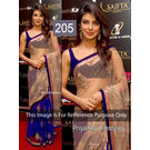 Kmozi Replica Priyanka Life Style Designer Saree, blue and cream