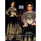 Kmozi Kangna Queen Designer Lehenga Choli, black