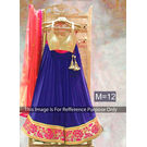 Kmozi Peach Designer Georgette Lehenga Choli, blue and peach