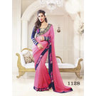 Kmozi Fancy Stylist Color Saree Buy Online Shopping, pink