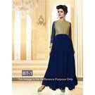 Kmozi Fancy Designer Anarkali Suit, blue