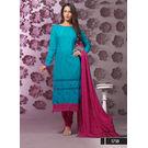 Kmozi Latest New Cotton Long Dress Material, blue