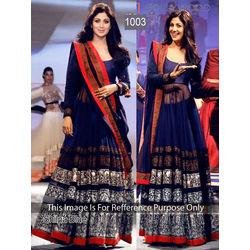 Kmozi Shilpa Floor Touch Anarkali Suit, blue
