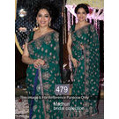 Kmozi Madhuri Collection Designer Saree, green