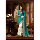 Kmozi New Designer Saree Buy Online, rama blue