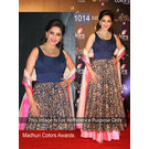 Kmozi Latest-Embroide- Outsting Designer Anarkali-Suit, blue