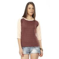 DUSG Fabulous Women's T-Shirt Colour: Wine / Seashell Pink, xxl