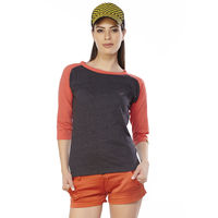 DUSG Fabulous Women's T-Shirt Colour: Jet Black / Coral, xl