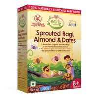 Early Foods Sprouted Ragi Almond & Date Porridge Mix 200g
