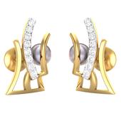 EARRING (LJER0095), 14k, hi-vs/si