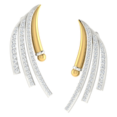 EARRING (LJER0019), 18k, hi-vs/si