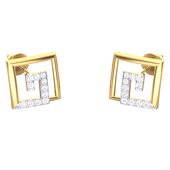 EARRING (LJER0119), 18k, hi-vs/si