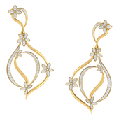 EARRING (LJER0061), 14k, hi-vs/si