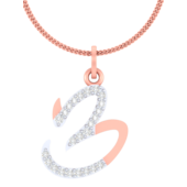 NUMBER PENDANT (LJNP506), 14k, ef-vvs, yellow rose white