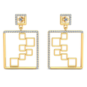 EARRING (LJER0317), 18k, hi-vs/si
