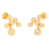 EARRING (LJKTP042), 14k, hi-vs/si
