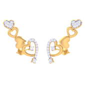 EARRING (LJER0352), 14k, hi-vs/si