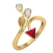 RING (LJRG103), 18, 14k, hi-vs/si