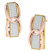 EARRING (LJER0043), 18k, hi-vs/si