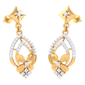 EARRING (LJER0359), 18k, hi-vs/si