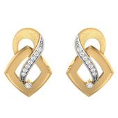 EARRING (LJER0008), 14k, hi-vs/si