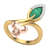 RING (LJRG100), 8, 14k, hi-vs/si