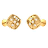 EARRING (LJKTP019), 14k, hi-vs/si